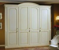 Elios Kleiderschrank, Kleiderschrank aus Holz mit Regalen und Schubladen
