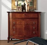 Parigi Kommode, Luxus klassischen Kommode mit 4 Schubladen, Schnitzereien Handarbeit