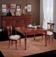Opera Tisch, Ausziehbarer Esstisch aus Holz, klassischen Stil