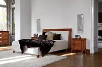 Art. 393 Vivre Bett, Mit gepolstertem Kopfteil und Bettrahmen Bett