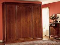 Opera Kleiderschrank Holz-Tür, Kleiderschrank mit 4 Türen, in getäfelten Holz
