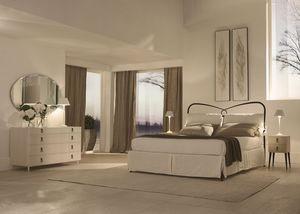 St.Tropez Bett, Mit konischen Füßen Bett, beendet von Hand gemacht