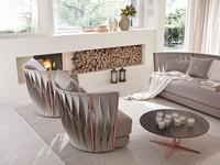 Twist Sessel, Moderne Eisen Sessel, mit Gummi und Federn gepolstert