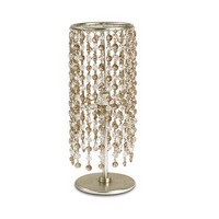 Gioia abat-jour, Tischlampe aus Eisen, Glas-Anhänger in 2 Farben