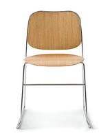 Bay R/LS, Stapelbare Sessel aus verchromtem Stahl