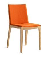 Bianca Light R/FU, Design Lunchroom Chair in Holz, Sitz und Rücken gepolstert