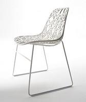 Nett R SB, Designer-Außenstuhl in Metall, Kunststoff-Mesh-Shell