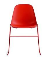 Pola Light R/SB, Linear Design-Stuhl mit Metallgestell für Restaurant