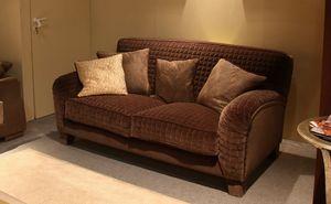 Tango, Gepolstertes Sofa im klassischen Stil, vollständig von Hand