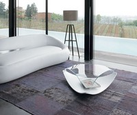QUIET, Ursprüngliche niedrigen Tisch aus Holz und Glas, für Wohnzimmer