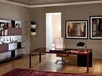 More 575 executive desk, Moderne Chefschreibtische, Metall, Holz top