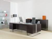 Deck Leader executive desk, Großer Schreibtisch, Holz und Metall, ideal für Chefbüro