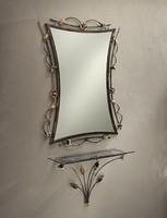 CO/400, Wand dekoriert Konsole aus Schmiedeeisen, Glasplatte