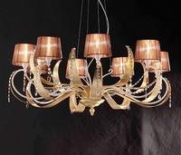 Erica ceiling lamp, Hängeleuchte aus Eisen mit 8 hellen, modernen Stil