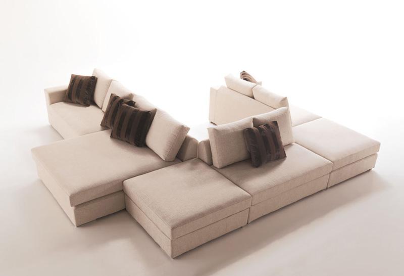 Dile, Moderne modulare Sofa, nach Maß, für das Wohnzimmer