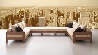Kuba, Modulares Sofa minimalistisch, modern Stil, für Taverne