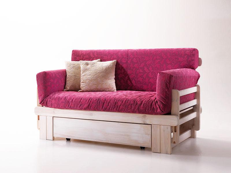 Rustikales Sofa Bett Aus Holz Mit Container Idfdesign