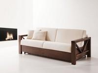 Monet, Holzbettsofa, Cabrio, für Wohnzimmer