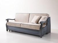 Cimabue, Rustikales Sofa-Bett, mit Holzrahmen, im provenzalischen Stil