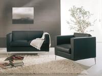 Matrix, Stuhl mit modernem Design, Metallsockel, Wartezonen