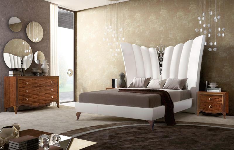 Betten in leder polsterbett luxus bett zeitgen ssische schlafzimmer idfdesign - Camere da letto rustiche matrimoniali ...