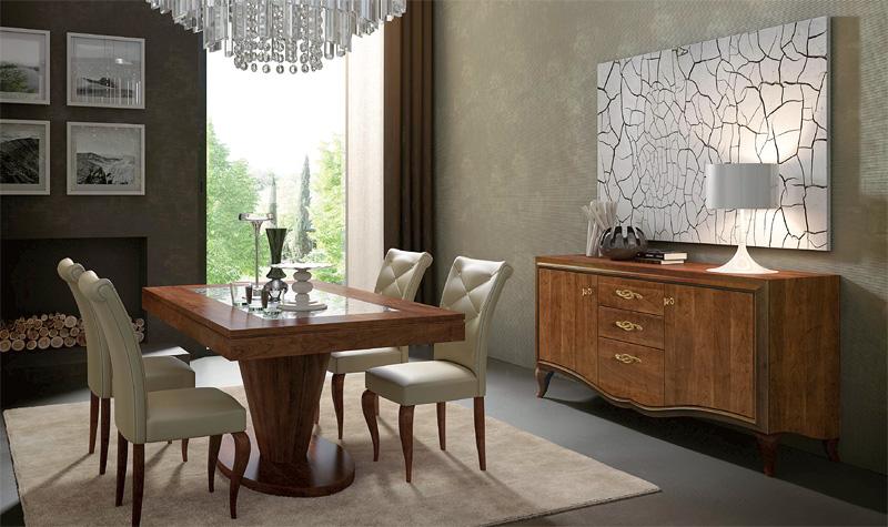 Luxus Esstisch Holz ~ Gemalt Holz Tisch, Holz Esstische, Luxus Esstisch Wohnzimmermöbel  IDFdesign