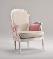 BLANCHE Sessel 8652A, Dekoriert Holz Sessel, gepolstert, kundengerecht