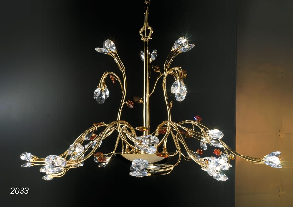 Kronleuchter Kristall Anhänger ~ Kronleuchter in kt goldenem messing und kristall idfdesign