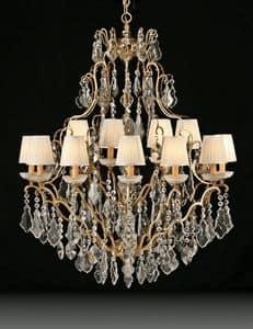 Art. 3881/12+6, Luxuriöse Kronleuchter ideal für klassische Möbel