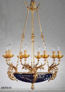Art. MER 518, Klassischer Kronleuchter mit Kristallschüssel