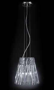 CIRCLE Ø 32, Pendelleuchte mit transparenten Kristallanhängern