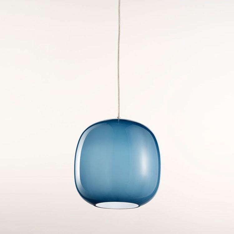 Forme Ls625-025, Kronleuchter in blauem satiniertem Glas