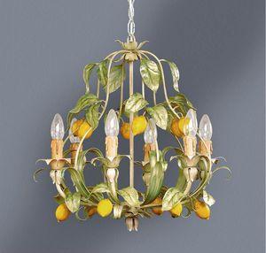 L.4885/6, Kronleuchter mit Blättern und Zitronen Dekoration
