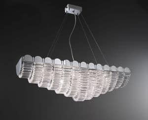 Lucidum ceiling lamp, Eiserne Kronleuchter, Lampenschirme in Organza, Kristall Anhänger