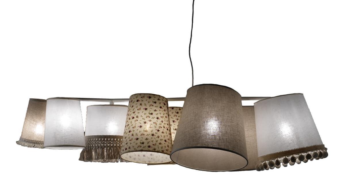 Kronleuchter Mit Lampenschirm ~ Kronleuchter mit verschiedenen lampenschirmen mit verschiedenen