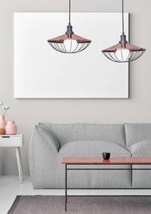 Mikado, 2 Lichter Aufhebung mit kupfernem Lampenschirm
