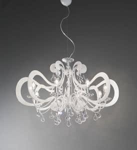 Ornella ceiling lamp, Metall-Lüster modernen, den verschiedenen Enden