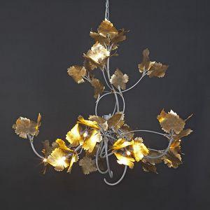 RASPO HL1073CH-15, Eisenkronleuchter mit dekorativen Blättern