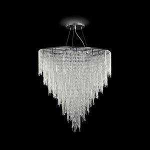 Vanity SS7660-90×125-CN, Hängeleuchte mit geschliffenem Kristall verziert
