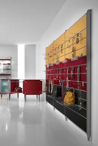 Contemporary - Schrankwand für Zubehör, Wandregal mit Haken oder Regalen