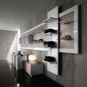 Revolution - Schrankwand für Kleidung, Wand-Display-Ständer für Modegeschäfte