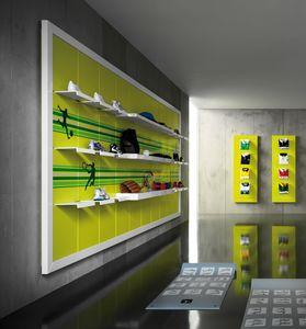 Revolution - Schrankwand für Sportgeschäft, Wandregale für Sportgeschäfte