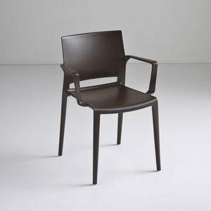 Bakhita B, Stackable Polymer Stuhl, für den Objektbereich