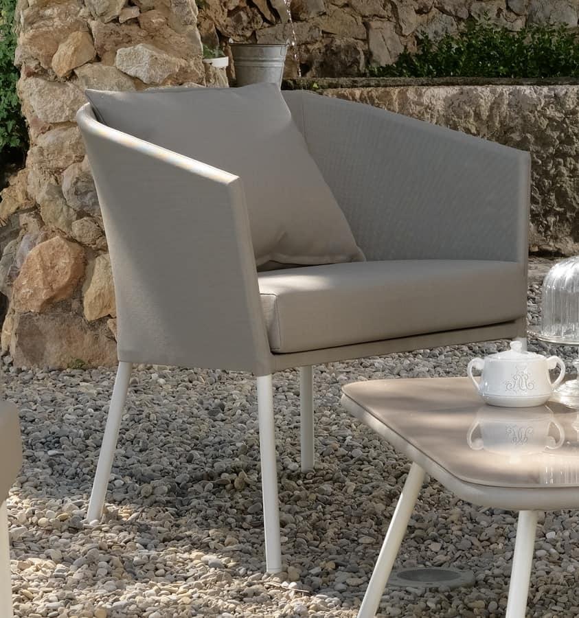 au en sessel bedeckt in textilene idfdesign. Black Bedroom Furniture Sets. Home Design Ideas