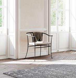 Aretha, Sessel aus geschmiedetem Eisen, für den Außenbereich
