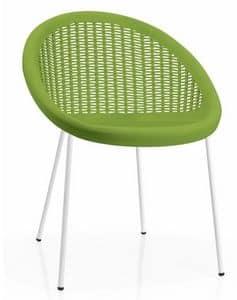 Bon Bon, Sessel aus Metall und Technopolymer, stapelbar, außengeeignet