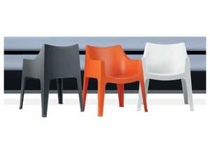 Coccolona, Stapelbare Sessel aus Kunststoff, mit Anti-Rutsch-Füße