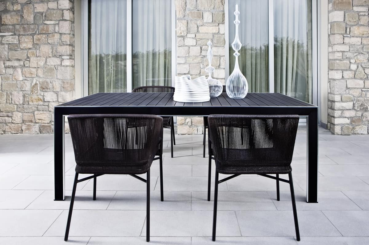 Stuhl aus Metall und Seil, für Outdoor-Bar | IDFdesign