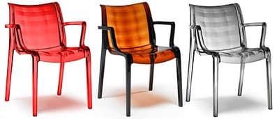 Extraordinaria, Stapelbarer Stuhl, Polycarbonat, auch für Außenbereich