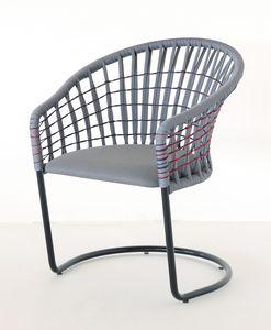 Flora, Outdoor-Stuhl mit Segel-Seil verwoben